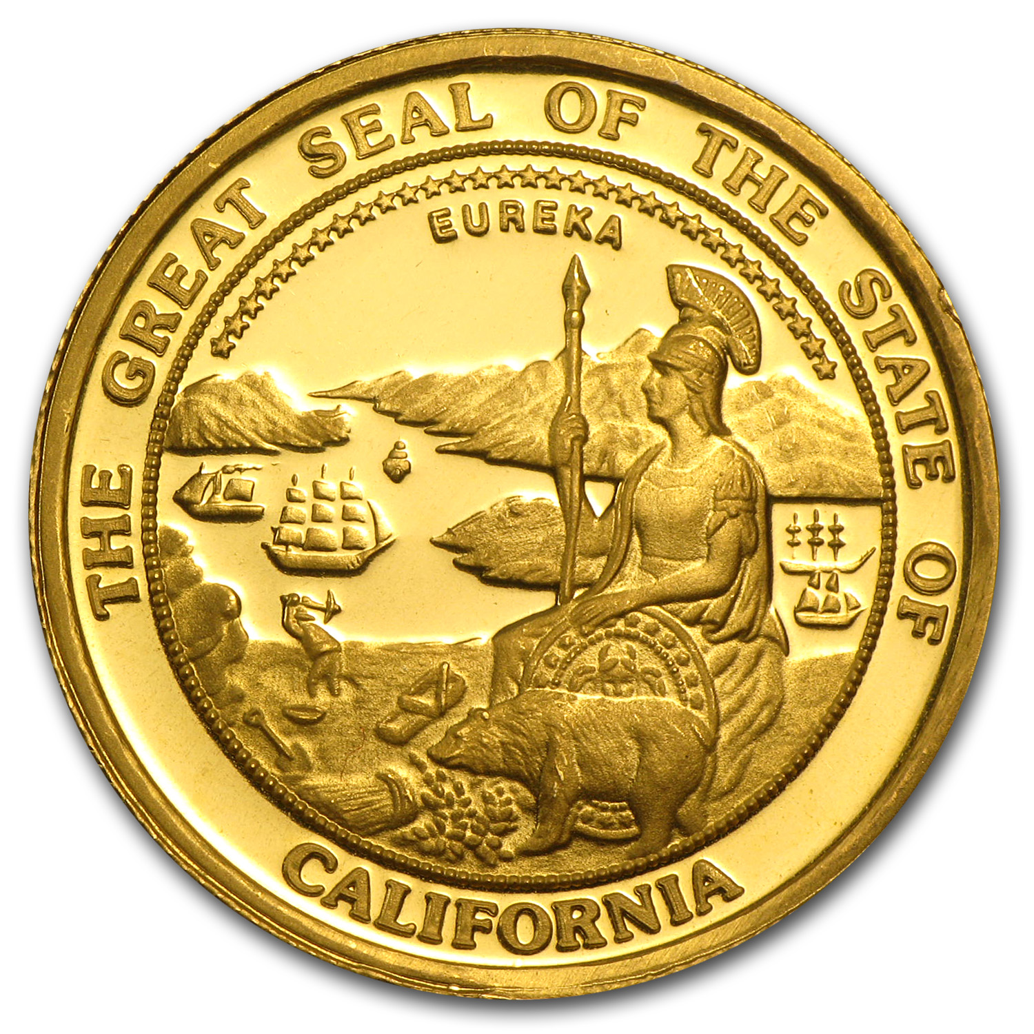 1/2 oz Gold Rounds - Great Seal of California